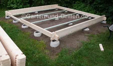 Fundament für ein Gartenhausselbstbausatz