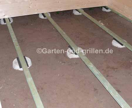 Fußboden der Gartenlaube